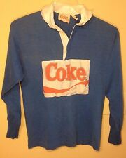 Coke Wearables Collared Sweatshirt w/ Sewn on Patch - Sz: S - 70s - Coca-Cola