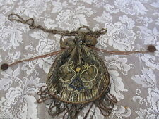 BEADED VICTORIAN Purse Renaissance Retro Drawstring Gothic Costume Re inact
