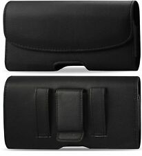FOR AT&T, Tracfone ZTE ZMAX 2 BELT CLIP HOLSTER BELT LEATHER FITS A THIN CASE ON