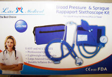 Latex Free NURSING EMT Blood Pressure Sprague Rappaport Stethoscope Kit 10 Color