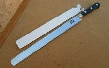 UNUSED Vintage Sabatier-Style Italian Chef's XXL Serrated Bread Slicing Knife