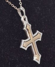 James Avery Retired 18 K Yellow Gold & Sterling Silver Passion Cross Pendant