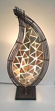 Insolite en cuivre shell lampe faite main ethnique bali design lampe de table 70cm