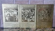 Yu-gi-oh Obelisk The Tormentor Slifer The Sky Dragon & Ra Gold Metal Cards