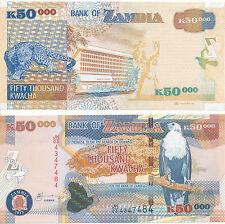 Sambia / Zambia - 50000 Kwacha 2012 UNC - Pick 48h