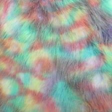 ' Aurora Borealis ' - multi coloured - faux fur fabric - furaddiction