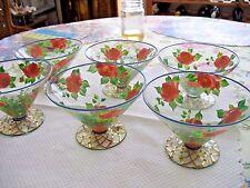 Mackenzie Childs Dessert  Goblet/Glasses ( Set of 2 )