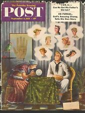 SEPT 4 1954 SATURDAY EVENING POST  magazine ( COVER ONLY ) -- FORTUNE TELLER