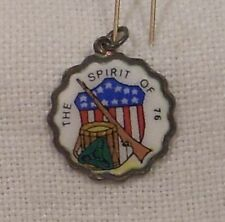 Vintage REU Sterling/Enamel The Spirit of '76 Charm - Bicentennial - Patriotic