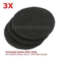 3Pzs Filtros Carbón Activado Almohadillas Para Eheim Classic 2213 / 250 2628130