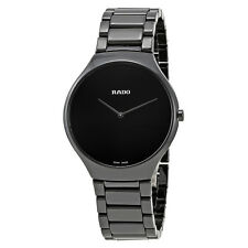 Rado True Thinline Black Ceramic Mens Watch R27741182