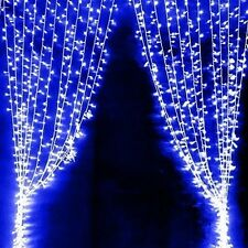 Curtain Led Lights Blue Fairy Lamp Bulb Strips Rope Wedding Garden Decorations