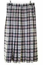 Jaeger Womens Hip Pleat Skirt Size 16 W31 Multi Check Polyester Wool