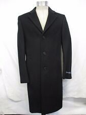 NAUTICA Men's 38R Black Wool Blend Suit Overcoat RETAIL: $350 Z197