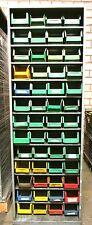 Materialregal mit Kunststoffkisten Sichtlagerkisten Lagerbox Schäfer Regal offen