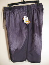 Reebok Mens Athletic Sport Shorts NWT M Gray Multi Slim