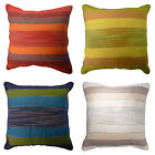 Indian Handwoven Stripe Cotton Cushion Covers Red Green Blue Natural 60 x 60 cm