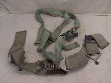 USAF Seat Belt Saftey Harness Military Surpluss Lap Shoulder Belt