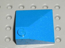 Pièce inclinée LEGO blue slope brick ref 3675 / set 7664 3053 4400 ...