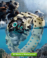 Sanda Camouflage Digital Sport Military Water/Shock-Proof Quartz Wrist Watch
