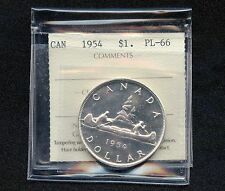 1954 Canada Dollar Coin Cut Off ICCS PL-66 QN 547 (23.33 Grams, .800 Silver)