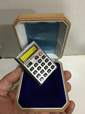 VINTAGE CASIO MICRO -MINI CALCULATOR  WITH BOX  1960S-1980s
