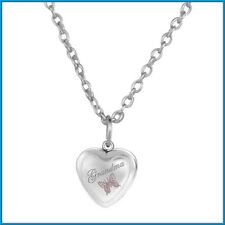 GRANDMA Silver Heart Butterfly Necklace Grandmother Nana Mothers Day