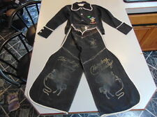 "*Vintage ""Hoppy"" Hopalong Cassidy Kids Chaps and Shirt"