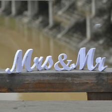 White Mr And Mrs Wedding Sign Wooden Letters Top Table Decoration Brand Decor