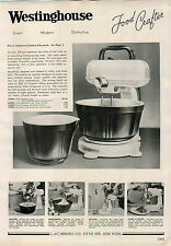 1938 ADVERTISEMENT Westinghouse Electric Food Mixer Crafter