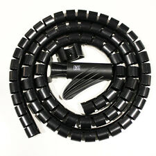 MX Cable Cover Guard 16mm Cable Protector Organizer Management 1.5M-MX2696 BLACK