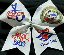 Cheer Bow - Personalized Disney Cruise - Glitter - Hair Bows