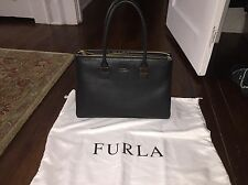 Furla Amelia Tote - New - Black Leather