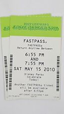 Disney FASTPASS Walt Disney World Fast Pass Ticket BUZZ LIGHTYEAR SPACE 0655