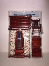 Town Square Miniatures Dollhouse 6 Piece Master Bedroom Room Set US Seller NEW