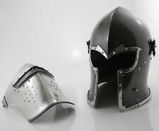 BIRTHDAY GIFT FOR HIM Medieval Barbute Helme Armour Helmet Roman knight helmets.