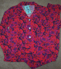 NWT Bedhead BHPJ's Pink/Purple/Red POPPY FLOWERS Knit Pajamas Set L Floral CUTE!