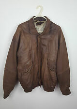 VTG RETRO BROWN DISTRESSED UNISEX URBAN RENEWAL LEATHER MOD SCOOTER JACKET M/L