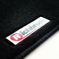 Genuine Richbrook Carpet Car Mats for Chevrolet Spark 09  - Black Ribb Trim