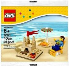 Brand New LEGO set 40054 Summer Beach Scene Polybag seasonal sand castle sun sea