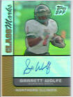 garrett wolfe rookie draft auto autograph bears northern illinois niu college 10
