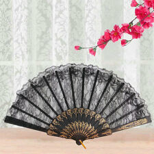 Chinese Vintage Fancy Dress Costume Party Bar Dancing Folding Lace Hand Fan? CC