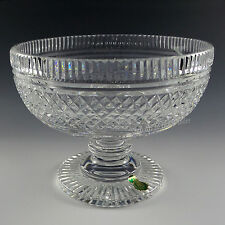 Waterford Crystal Footed Bowl Compote Centerpiece Earlier Piece Complex Pattern