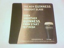 GUINNESS THE  NEW GUINNESS DRAUGHT GLASS  -  Beermat / Coaster