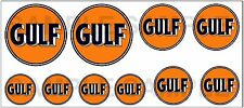 1:43 O SCALE GULF SIGN BOXCAR GAS STATION TANKER TRUCK DIORAMA DECALS B