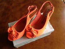 Niko Amore Orange Wedge Heel Shoes ~ Size 6.5 ~ Brand New Boxed