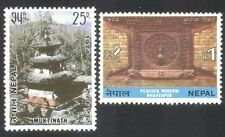 Nepal 1974 Tourism/Temple/Peacock/Carving/Art/Buildings/Architecture 2v (n38917)