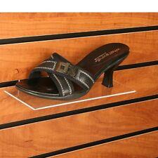 "Slatwall 4""x10"" Flat Acrylic Shoe Display Shelf - 20 Pieces"