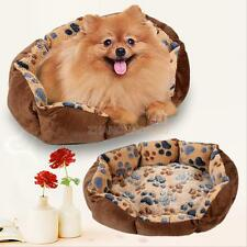 Pet Dog Puppy Cat Bed House Nest Mat Pad Cozy Soft Warm Plush Fleece Coffee Bed