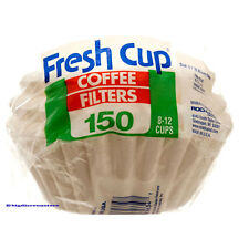 150 White 8-12 cup Basket Style Paper Coffee Filters Disposable Paper Made in US